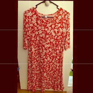 Coral Floral Old Navy Dress